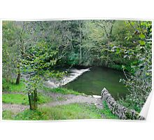 Weir Below Lover's Leap, Dovedale  Poster