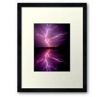 Cloud to Cloud Lightening Framed Print
