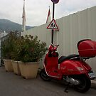 Red Vespa by 518photography