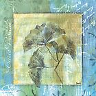 Spa Gingko Postcard 1 by DebbieDeWitt