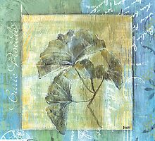 Spa Gingko Postcard 1 by Debbie DeWitt