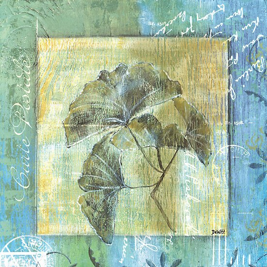 Spa Gingko Postcard 1 by Debbie DeWitt