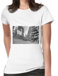 Winter in Forsheda's track II Womens Fitted T-Shirt