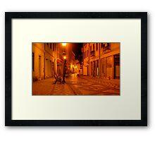 The yellow city III Framed Print