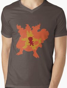 Magby, Magmar and Magmortar Mens V-Neck T-Shirt