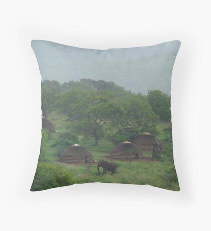 Village visitor Throw Pillow