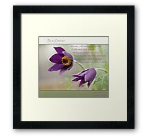 Ode to Spring ~ Crocus Framed Print
