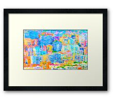 Monaco Abstract Framed Print
