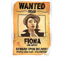 WANTED: FIONA THE CON ARTIST Poster
