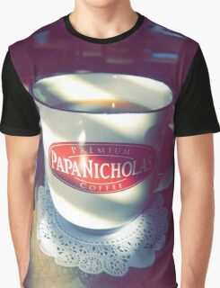 Premium Coffee Papa Graphic T-Shirt