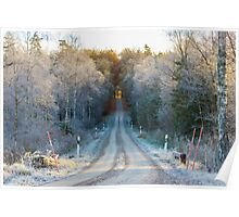 The border between Winter and Autumn Poster