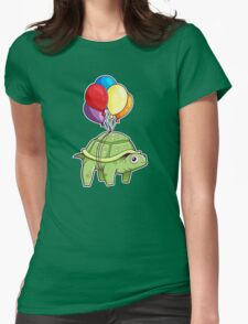 Turtle - Balloon Fun Womens Fitted T-Shirt