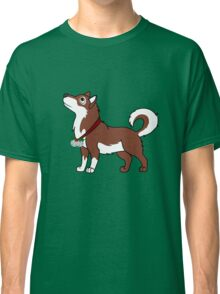 Red Alaskan Malamute with Silver Jingle Bells & Holly Classic T-Shirt