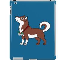 Red Alaskan Malamute with Silver Jingle Bells & Holly iPad Case/Skin