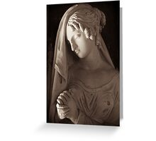 goddess persephone in prayer Greeting Card
