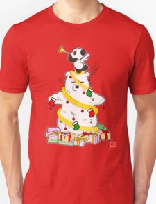 Panda And Polar Bear Christmas Tree T-Shirt