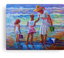 Sunday Afternoon at the Beach (National Cover) Canvas Print