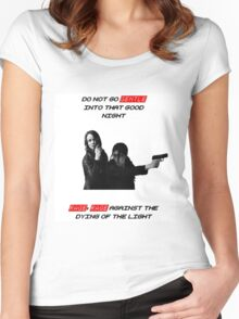 """Person of Interest """"Root & Shaw"""" (Full) Women's Fitted Scoop T-Shirt"""