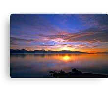 HDR sunset in the arctic Canvas Print