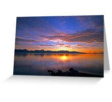 HDR sunset in the arctic Greeting Card