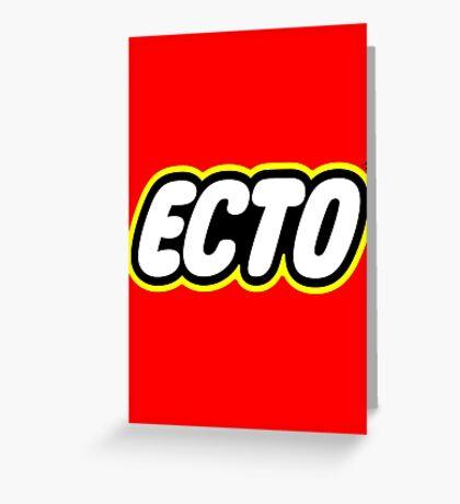 LEGO x ECTO logo v2 Greeting Card