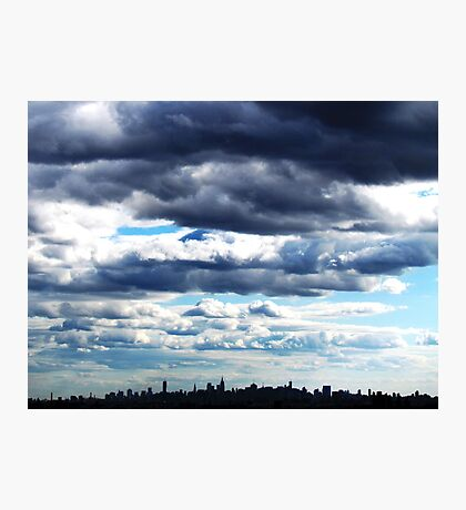 Clouds over New York City Photographic Print