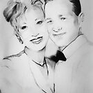 Pam Gallagher & Son Pencil Portrait Commission by deborah zaragoza