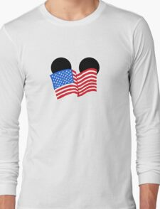 American Flag Ears Long Sleeve T-Shirt