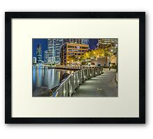 The Broadwalk Framed Print