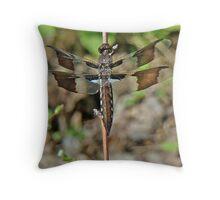 Common Whitetail Dragonfly - Plathemis lydia - Female Throw Pillow
