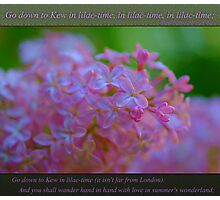 Go down to Kew in lilac-time Photographic Print