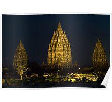 Prambanan Temple at night Poster