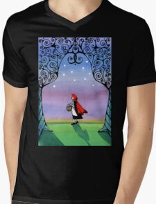 Red Riding Hood Mens V-Neck T-Shirt