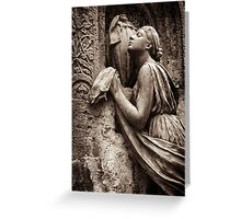 prayer to the goddess Greeting Card
