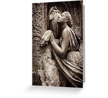 prayer to the goddess Greeting Card