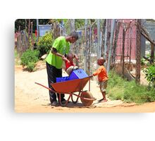 Street Scene, Soweto Canvas Print