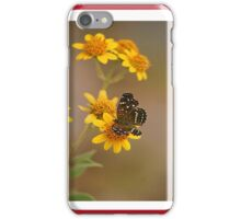 butterfly on marigold iPhone Case/Skin