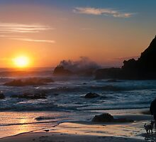 Morning comes to Nobbys Beach by Chris  Randall