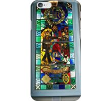 Stained glass window in the Cannongate Kirk, Edinburgh iPhone Case/Skin