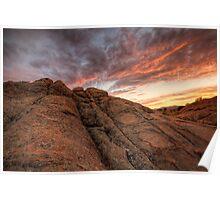 Sunset Dip Poster