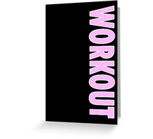 Workout - Black Leggings and Fitness Clothing Greeting Card