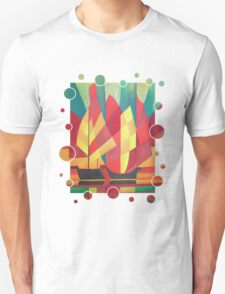 Happy Father's Day Cubist Abstract of Junk Sails and Ocean Skies Unisex T-Shirt