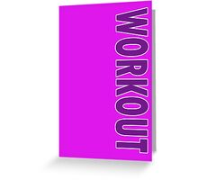 Hot Pink Workout Leggings - Exercise Clothing Greeting Card