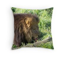 Lions Do Eat Meat Throw Pillow