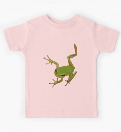 European Green Tree Frog Isolated Kids Tee