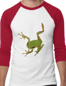 European Green Tree Frog Isolated Men's Baseball ¾ T-Shirt
