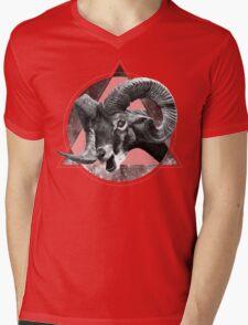 Horns & Space Mens V-Neck T-Shirt