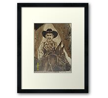 Cowhand Riden Framed Print
