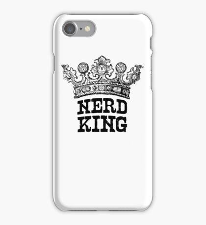 Nerd King Crown Logo (Black Ink) iPhone Case/Skin