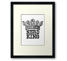 Nerd King Crown Logo (Black Ink) Framed Print